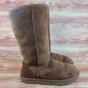 UGG Clasic Tall Brown Winter Snow Shearling Boots